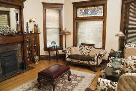 victorian style living room old fashioned antique domestic residential home interior