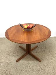 on hold 70s original vintage retro danish mid century falster round double extending dining table