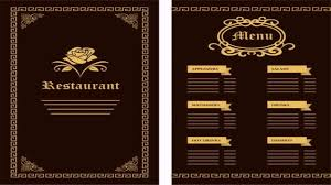Restaurant Menu Design Templates Restaurant Menu Design Templates Free Download Youtube