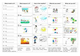 esl weather worksheets
