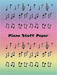Blank Staff Paper Piano Buy Piano Staff Paper Blank Sheet Music For Piano Music Staff Paper