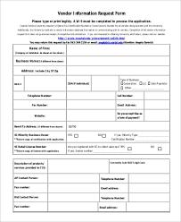 New Vendor Form Template Miche Strony Internetowe Co