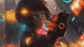 wallpaper engine cyberpunk anime animated wallpaper mylivewallpapers fredlang gif