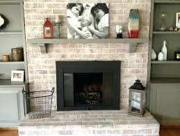 whitewash fireplace stone ing brick before and after