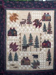 Quilt Patterns with North woods flair, Quilts with bears and moose ... & Laura's Quilt-atelier Adamdwight.com