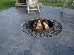 marvelous concrete patio with fire pit ideas stamped