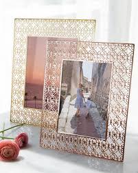 5x7 filigree photo frame in rose gold