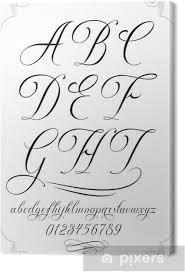 Obraz Kaligrafie Písmo S čísly Na Plátně