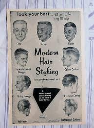 Vintage 1957 Barbershop Modern 9 Mens Haircuts Chart