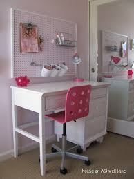 Kids Desk For Bedroom Cute And Functional Pegboard Organization In This Kids Bedroom