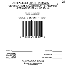 Barcode Mil Size Chart Upc Void D