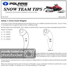 Polaris Primary Clutch Spring Chart Secondary Spring Chart Archive Snowest Snowmobile Forum