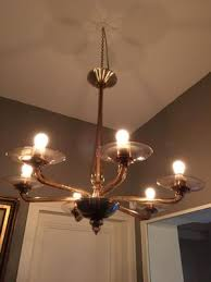 blown glass chandelier 1960s 14