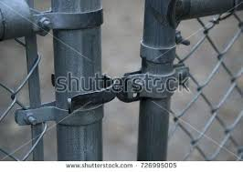 chain link fence gate lock. Chain Link Fence Door Gate Latch Close Up  . Lock