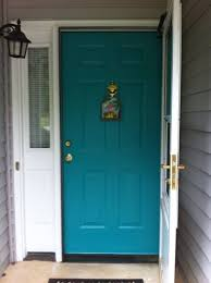 turquoise front doorFront Door Paint Colors for Brick House  Majestic Home Services