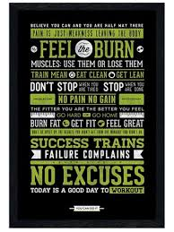 Black Wooden Framed Gym Motivation Health And Fitness