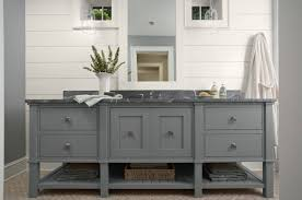 Open Shelf Vanity Bathroom Superb Grey Bathroom Vanity Solid Wood And Veneer Material 2 Door