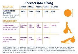 Exercise Ball Size Chart Aok Mediball Pro