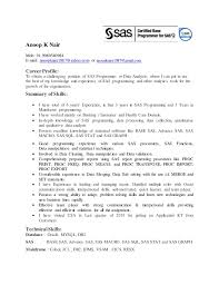 Sas Analyst Sample Resume