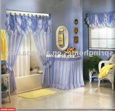 shower curtains with valance attached the drawing room interiors shower curtains with valance and tiebacks