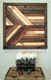 geometric stained wood wall dcor