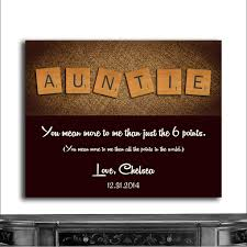 cwa 1054 personalized auntie scrabble tile letters custom art gift from niece nephew thank you gift birthday cwa 1054