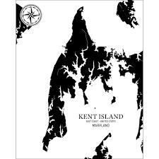 Kent Island Chart Benoits Design Co Nautical Charts Made In Maine