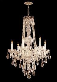 crystorama traditional crystal 6 light crystal brass chandelier iii