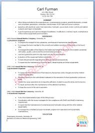 marine resume. marine engineer sample ...