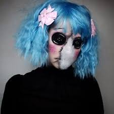 doll makeup horror y creepy on eyes costume rag doll ig thetrashmask rag doll