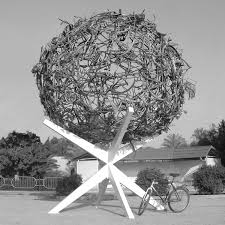 seven monuments made from hundreds of recycled bicycles