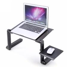 adjule portable laptop table stand lap sofa bed tray computer notebook desk bed table with mouse