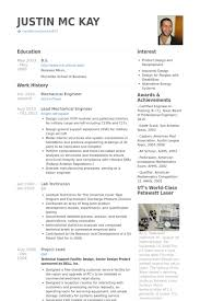 Mechanical Engineering Resume Examples Free Resume Templates 2018