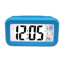 digital alarm clock with smart controllable backlight