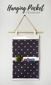 diy hanging pocket organizer star