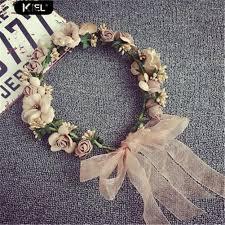 Kiel Boho Style <b>Artificial Floral Hairband</b> Wedding Party Bride Beach ...