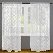 Home Essentials DII Sheer Lace Decorative Curtain Panels For Bedroom,  Living Room, Guest Room, Or Formal Sitting Areas, Light U0026 Airy To Filter  Sunlight Into ...