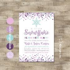 Snowflake Baby Shower Invitations Girl Snowflake Baby Shower Invitation Winter Baby Shower Invitation