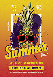 Summer Party Flyers Free Summer Flyer Templates Psd By Elegantflyer