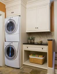 Laundry Room: Small Laundry Room Layout With Orange Color - Laundry Room  Design