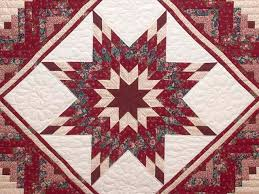 Lone Star Log Cabin Quilt -- gorgeous meticulously made Amish ... & ... Red and Cream Lone Star Log Cabin Quilt Photo 3 ... Adamdwight.com