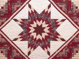 Lone Star Log Cabin Quilt -- gorgeous smartly made Amish Quilts ... & ... Red and Cream Lone Star Log Cabin Quilt Photo 3 ... Adamdwight.com