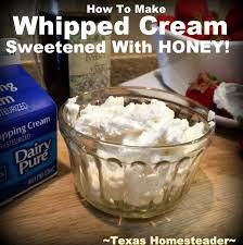 homemade whipped cream recipe sweetened