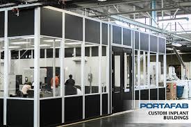 warehouse mezzanine modular office. Custom Inplant Buildings - PortaFab Modular Warehouse Mezzanine Office