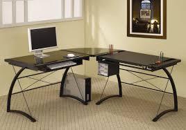 post glass home office desks. Modern Home Office L Shaped Desk Furniture Glass Top All Ideas And Post Desks R
