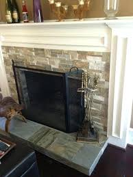how to reface a brick fireplace with marble tile image collections