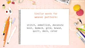 Pattern Synonym Simple Weave Pattern Synonyms That Belongs To Phrasal Verbs