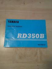 1975 yamaha rd350 rd350b factory yamaha owners manual