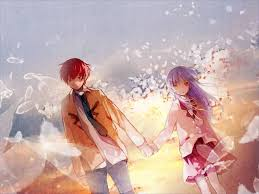 anime holding hands and walking. Delighful Walking One Life Incarnation Beautiful Bones  In Anime Holding Hands And Walking