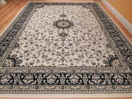 new traditional area rugs 8x10 ivory black border cream persian style rugs for living room rug large 8x11 carpet